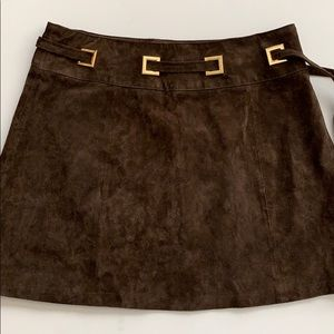 Asos | Brown Suede Skirt